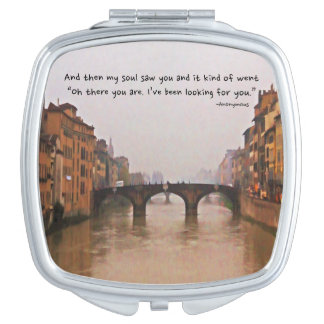 Florence Bridge With Love Quote Compact Mirror