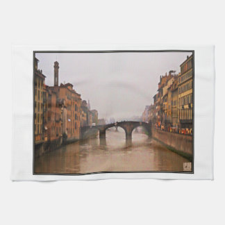 Florence Bridge With Love Quote Hand Towel