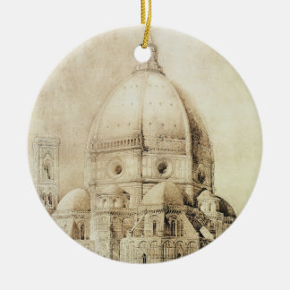 Florence Cathedral from the East, from 'Fragments Christmas Ornament