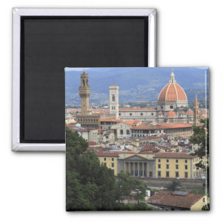Florence Cityscape Square Magnet