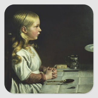 Florence Cope Saying Grace at Dinnertime Square Sticker