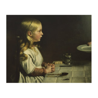 Florence Cope Saying Grace at Dinnertime Wood Wall Art