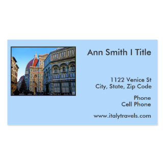 Florence Duomo Cathedral with Love Quote Business Card Template