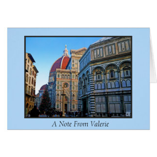 Florence Duomo Cathedral with Love Quote Stationery Note Card