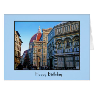 Florence Duomo Cathedral with Love Quote Large Greeting Card
