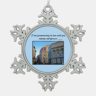 Florence Duomo Cathedral with Love Quote Ornaments
