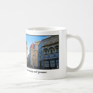 Florence Duomo Cathedral with Love Quote Mug