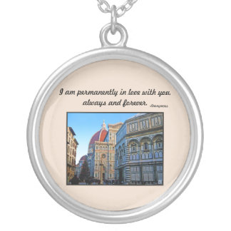 Florence Duomo Cathedral with Love Quote Jewelry