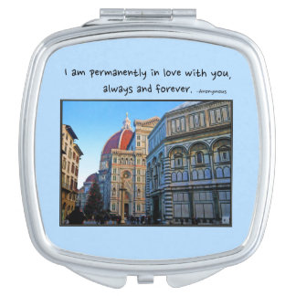 Florence Duomo Cathedral with Love Quote Makeup Mirrors