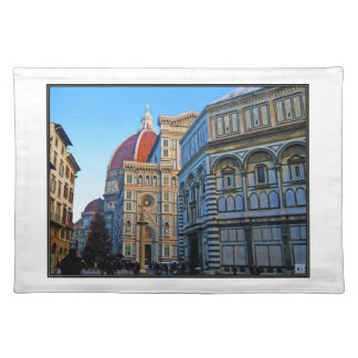 Florence Duomo Cathedral with Love Quote Placemat