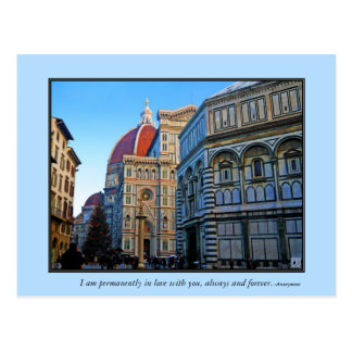 Florence Duomo Cathedral with Love Quote Postcard