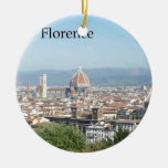 Florence Duomo from Michelangelo Square (new-St.K) Christmas Ornament