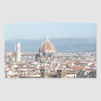 Florence Duomo from Michelangelo Square (new-St.K) Rectangular Sticker