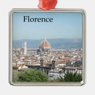 Florence Duomo from Michelangelo Square (new-St.K) Silver-Colored Square Decoration