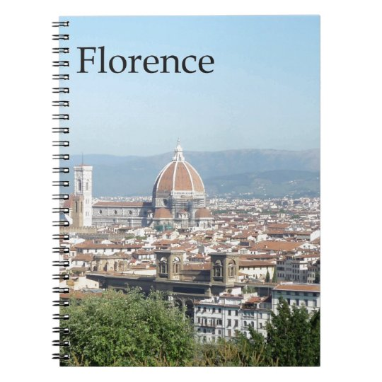 Florence Duomo from Michelangelo Square (new-St.K) Spiral Notebook