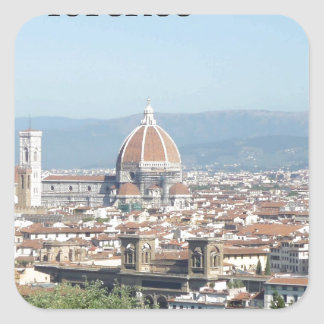Florence Duomo from Michelangelo Square (new-St.K) Square Sticker
