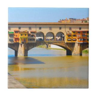 Florence -Firenze, Ponte vecchio Small Square Tile