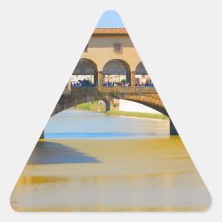Florence -Firenze, Ponte vecchio Triangle Sticker