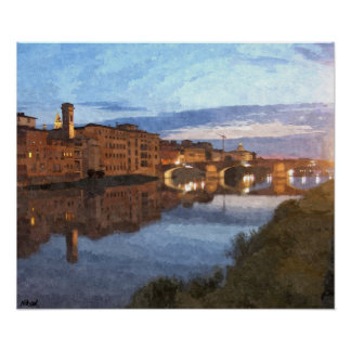 Florence, Italy - An evening in May Poster