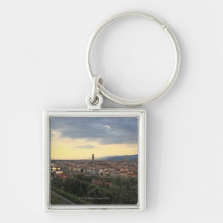 Florence, Italy Cityscape. Silver-Colored Square Key Ring