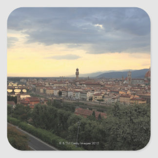 Florence, Italy Cityscape. Square Sticker