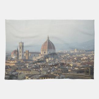 Florence Italy Cityscape Tea Towel