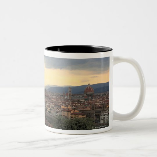 Florence, Italy Cityscape. Two-Tone Coffee Mug