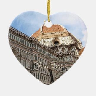 Florence Italy Duomo Holiday Photo Ceramic Heart Decoration