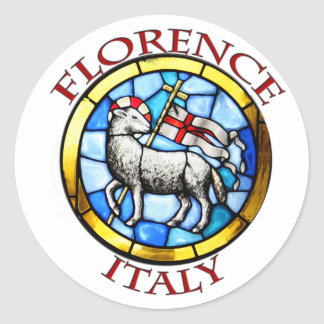 Florence Italy I Round Stickers