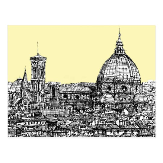 Florence Italy in cream Postcard
