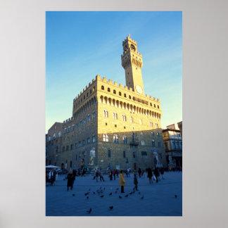 Florence Italy Piazza della Signoria Poster