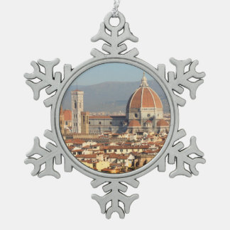 Florence, Italy Snowflake Pewter Christmas Ornament