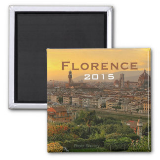 Florence Italy Souvenir Fridge Magnet Change Year