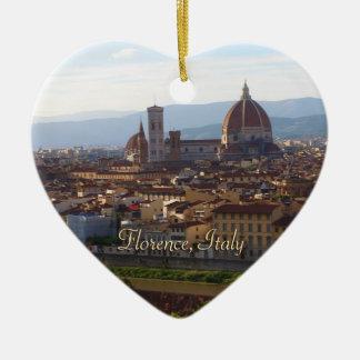 Florence Italy Travel Keepsake Ceramic Heart Decoration