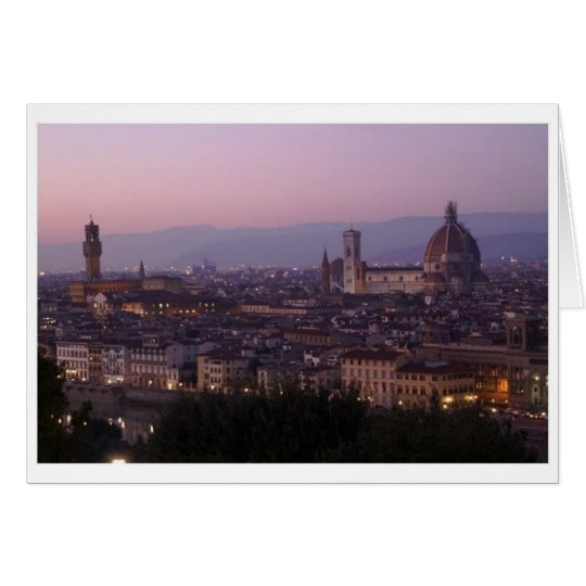 Florence, Italy - view from Piazzale Michelangelo Card