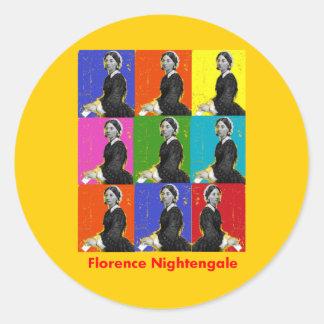 florence nightengale POPART T-Shirts & Gifts Round Sticker