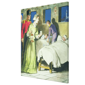 Florence Nightingale (1820-1910) from 'Peeps into Gallery Wrapped Canvas