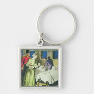 Florence Nightingale (1820-1910) from 'Peeps into Silver-Colored Square Key Ring
