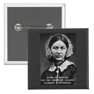 Florence Nightingale:Notes on Nursing 15 Cm Square Badge