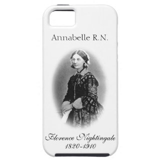 Florence Nightingale-Nurse+Personalise Name Tough iPhone 5 Case