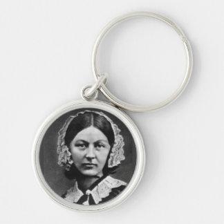 Florence Nightingale Nursing Silver-Colored Round Key Ring