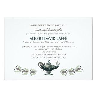 Florence Nightingale Oil Lamp Graduation Invitatio 13 Cm X 18 Cm Invitation Card