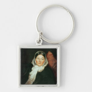 Florence Nightingale Silver-Colored Square Key Ring