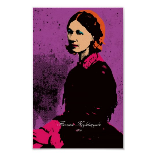 Florence Nightingale with Pop Art Poster