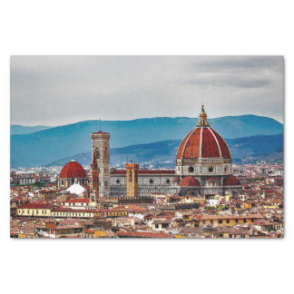Florence old city, Italy skyline Tissue Paper