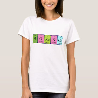 Florence periodic table name shirt