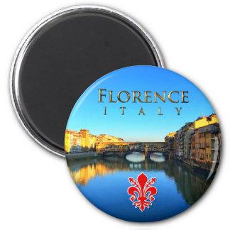 Florence - Ponte Vecchio 6 Cm Round Magnet