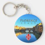 Florence - Ponte Vecchio Basic Round Button Key Ring