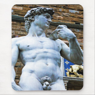 Florence Statue of David With Love Quote Mousepad