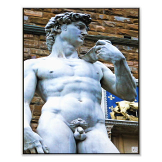 Florence Statue of David With Love Quote Photo Print